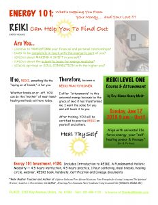 image of Reiki training flyer