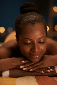 Release stress and pain with Reiki-pic of woman