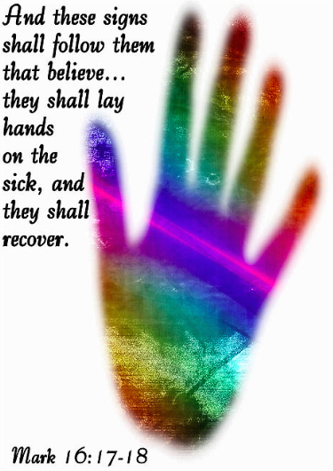 pic of hand and Mark scripture for free your feelings