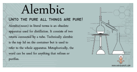 pic of ancient oil procedures alembic flasks