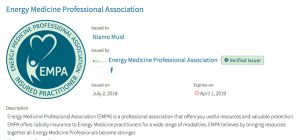 pic of EMPA professional badge