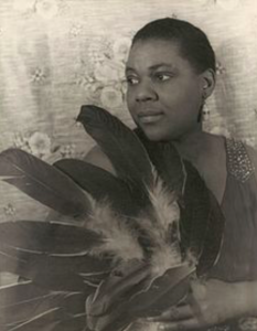 pic of bessie smith w/feathers