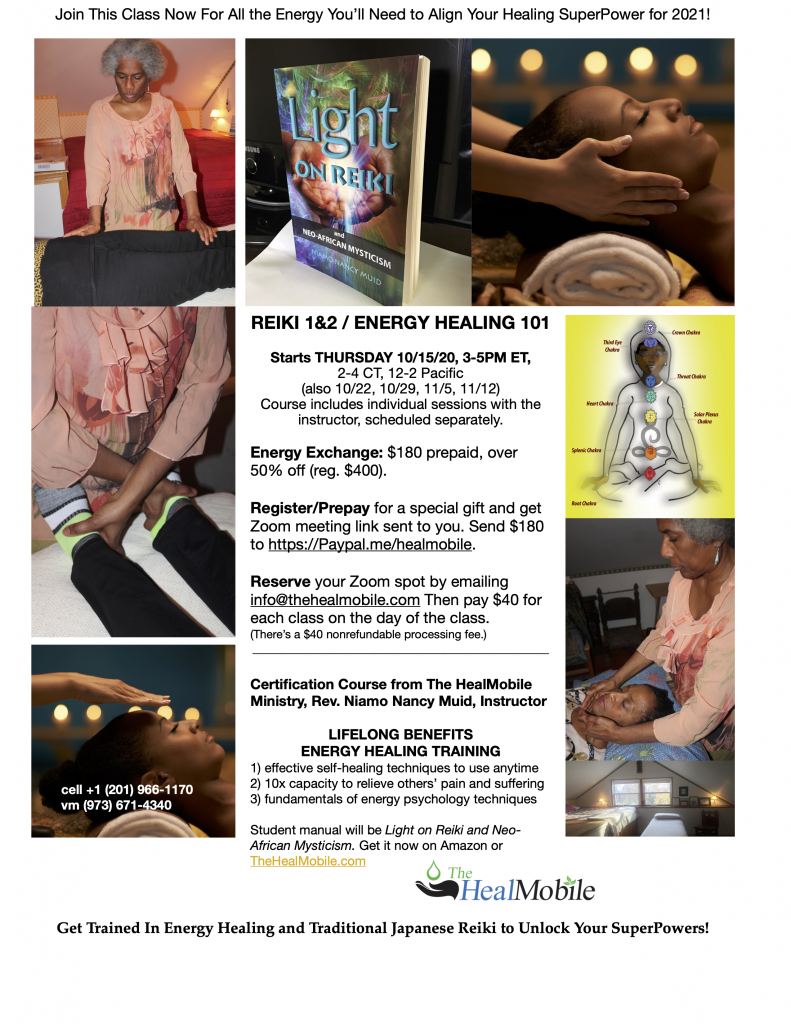 flyer about next reiki classes