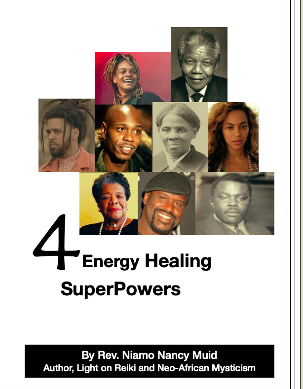 cover of Ebook including spiritual counseling info related to energy superpowers