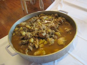 pic of Trinibago curry goat at family reunion