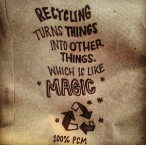 pic of burlap recycle your ego