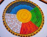 painting of the dagara wheel