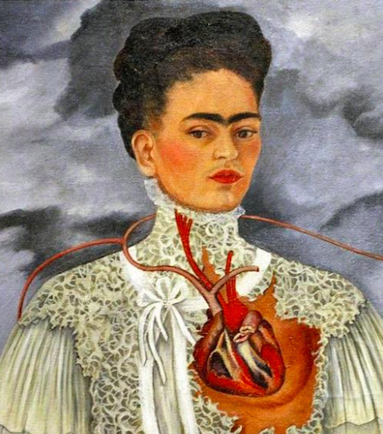 pic of frida kahlo heart portrait