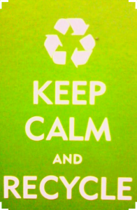 pic of keep calm and recycle