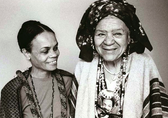 pic of QM Moore and Sonia Sanchez