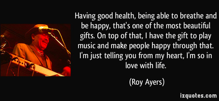 Roy Ayers quote poster love beliefs