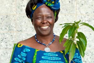 pic of Wangari Maathi with tree