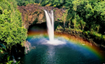 pic of waterfall rainbow